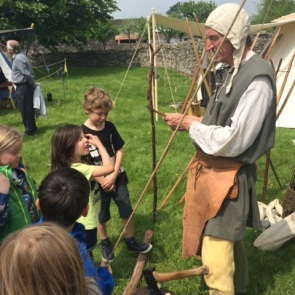 Medieval Re-enactment and Archery Display at Tretower Castle